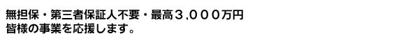 無担保・無保障で最高3000万円